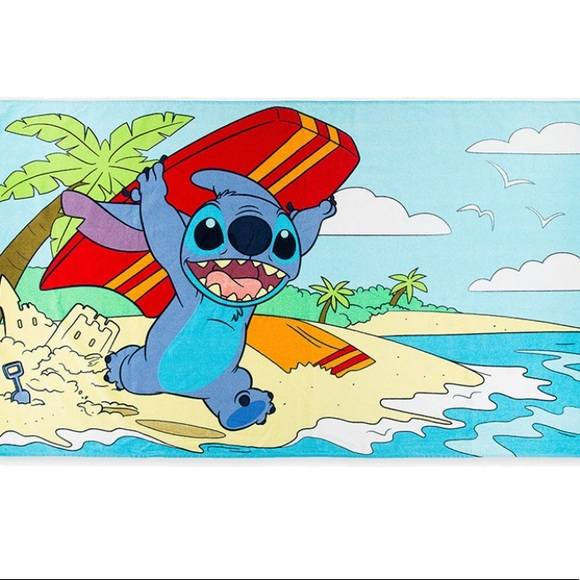 Disney's Stitch beach towel